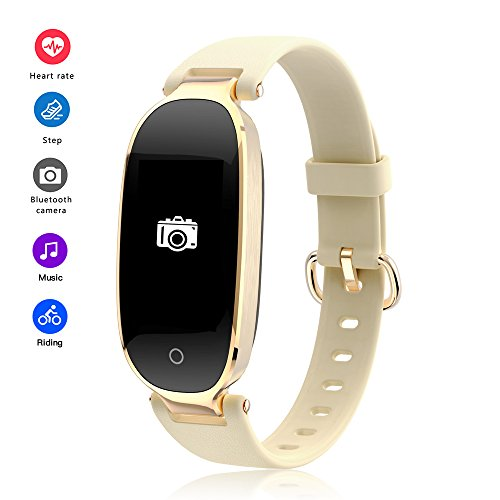 RimeU Activity Tracker Bluetooth Smartband 0.96'' Vertical Screen IP67 Waterproof Sports Bracelet Wristband Pedometer Heart Rate Sleep Monitor Smartwatch for Android iOS Samsung Xiaomi iPhone Gift
