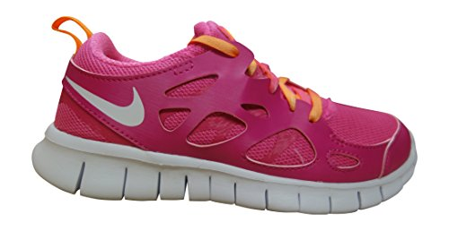 NIKE Free Run 2 (GS) Running Trainers 477701 Sneakers Shoes (US 4.5 Big Kid, Vivid Pink White Bright Citrus Pink 603)