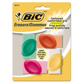 Bic Eraser - BICERSGP41AST - Eraser with Grip