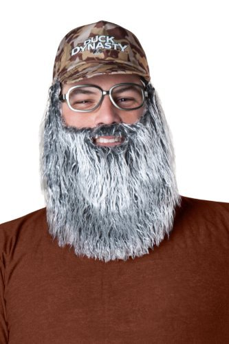 Duck Dynasty Men's Uncle Si Plush Accessory Kit, Silver, One (Duck Dynasty Si Costumes)