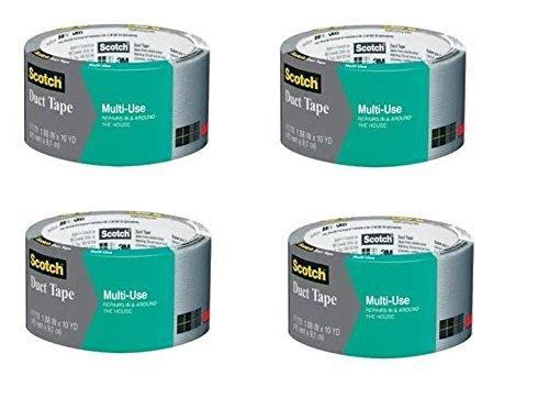 Scotch 1110-C Multi Use Duct Tape, 10-Yards, 4 10yd Rolls