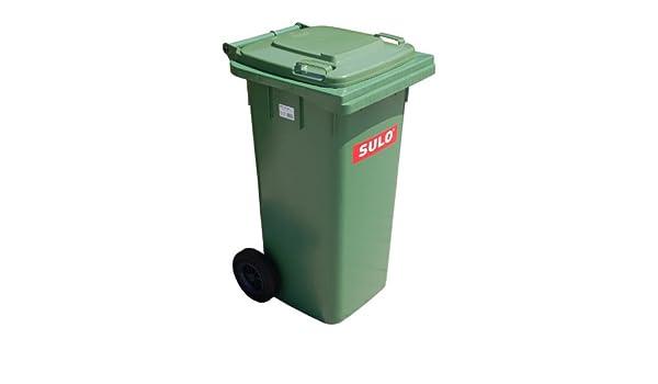 Cubo de basura 2 ruedas, contenedor a basura SULO 120 L, verde (22069): Amazon.es: Hogar