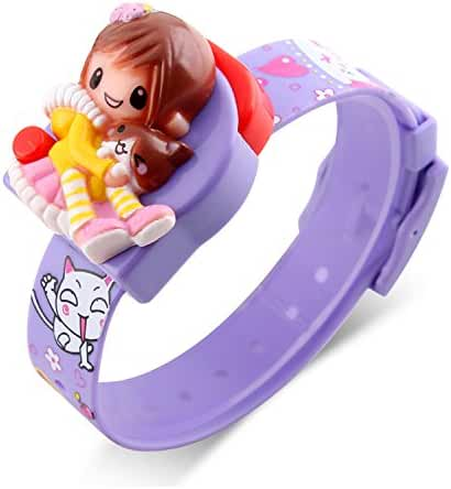 Kids Watches, Girls Digital Watch Children Fashion Casual Students Barbie Doll Toy Cartoon Decoration Watches Calendar Outdoor Party Creative Comfortable Purple