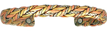 American Quilt - Sergio Lub Copper Magnetic Therapy Bracelet - Made in USA!| Size / Style| Polished - Large - 7 to 8 inches