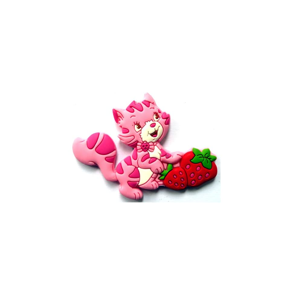 Custard the Cat in Strawberry Shortcake Fridge Magnet ~ Refrigerator Magnet