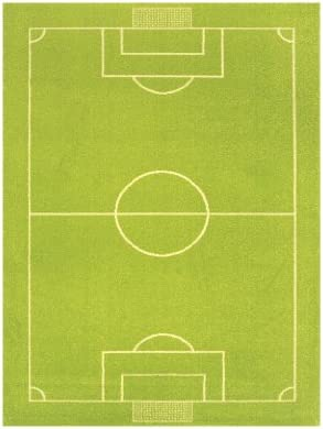 Little Helper IVI - Alfombra Infantil de Juegos en 3D (100 x 150 cm), diseño de Campo de fútbol, Color Verde: Amazon.es: Juguetes y juegos