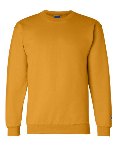 Champion Gold Crew Sweatshirt (Champion S600 Eco Crewneck Sweatshirt - Gold, Extra Large)