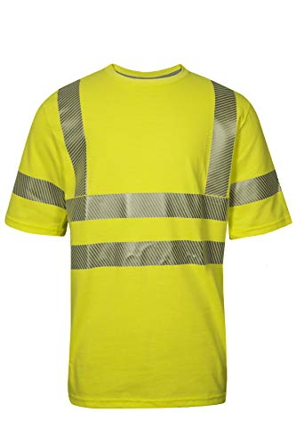National Safety Apparel C54HYC3XL FR Class 3 T-Shirt, X-Large, Fluorescent Yellow