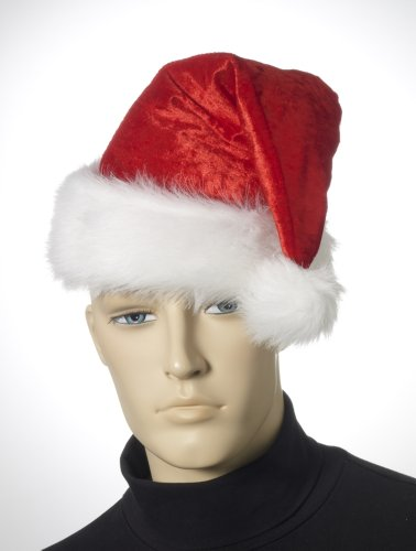 Velour Santa Hat Christmas Costume Accessory Select Size: One Size Fits Most