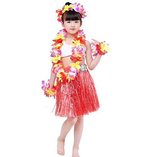 Kahiko Hula Costumes - 5pcs Kids Girls Halloween Costume Set