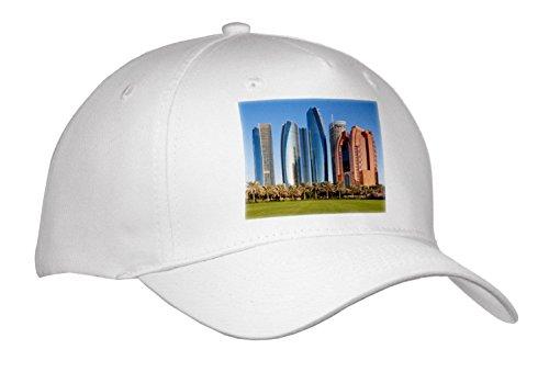 3dRose Danita Delimont - Cities - UAE, Abu Dhabi. Etihad Towers - Caps - Adult Baseball Cap (Cap_277136_1) - Abu Cap