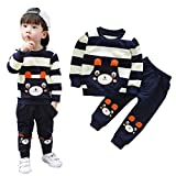 2018 Baby Boys Kids 2 Pieces Fall Clothing Set T-Shirt Pants Outfits (age:1-2 years old, Navy)