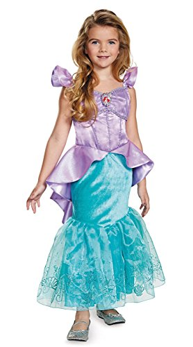 Disney Characters To Dress Up As (Storybook Ariel Prestige Costume - Extra Small (3T-4T))