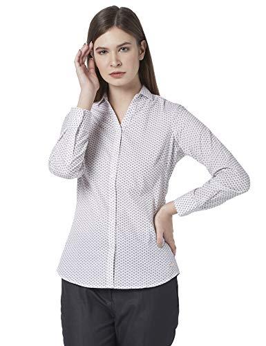 Park Avenue Woman Printed Medium Fawn Coloured Woman Cotton Shirts