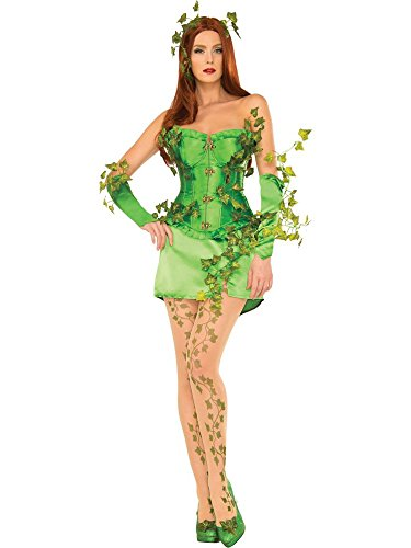 DC Comics Poison Ivy Deluxe Costume, Green, Small ()