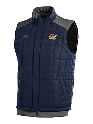 Cal Golden Bears Mens Jacket - Cal Golden Bears Under Armour Midnight Navy Storm Coldgear Full Zip Vest (L)