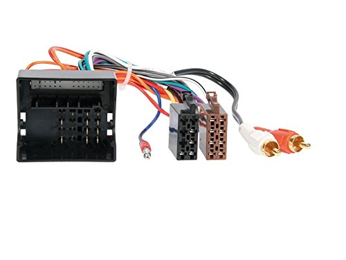 Kabel Audi A4 B7 04-09 2 DIN Autoradio Einbauset inkl Adapter und Radioblende in schwarz