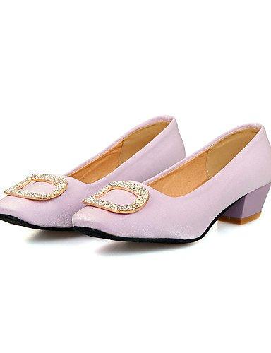 PDX/ Damenschuhe - Ballerinas - Büro / Kleid / Lässig - Kunstleder - Niedriger Absatz - Quadratische Zehe / Geschlossene Zehe -Schwarz / Lila purple-us6.5-7 / eu37 / uk4.5-5 / cn37