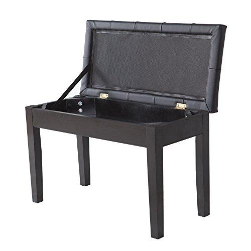 Soogo Piano Bench Stool Seat with Storage Black