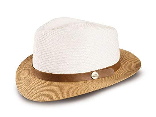 9989dc0dd Tilley Women's Jackson Fedora - White/Tan - M at Amazon Women's ...