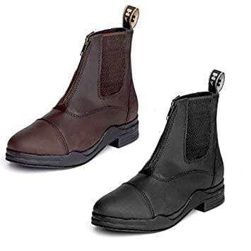 Hy Waxed Leather Zip Up Jodhpur Short Leather Boots  Amazon.co.uk ... b050a4032