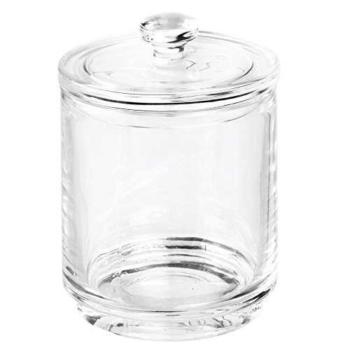 InterDesign Prescott Storage Canister for Cosmetic Storage at the Bathroom Vanity or Countertop – Clear by InterDesign