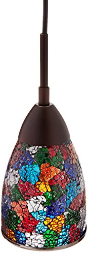 Woodbridge Lighting 13223MEB-M20MTC Venezia 1-Light Mini-Pendant, Metallic Bronze