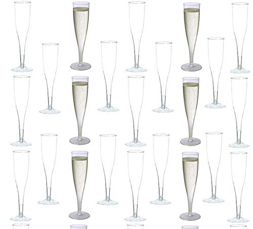 60 piece Clear Plastic Classicware Glass Like Champagne Wedding Parties Toasting Flutes
