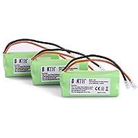 3 Packs BAKTH 2.4V 900mAh Rechargeable Cordless Phone Telephone Handset Batteries for Uniden BT-1021 BT1021 BBTG0798001