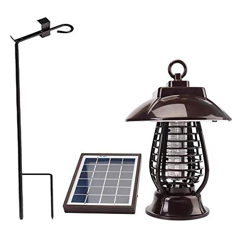 MKZWYY Solar Bug Zappers Light Outdoor, Solar Mosquito Killer Light Mosquito Repeller Light Insect Killing Lamp Insect Catcher for Gardens Outdoor Places Pest Reject