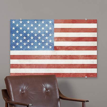 5-Pack Vintage Premium Brushed Aluminum Sign 18x12 CGSignLab American Flag