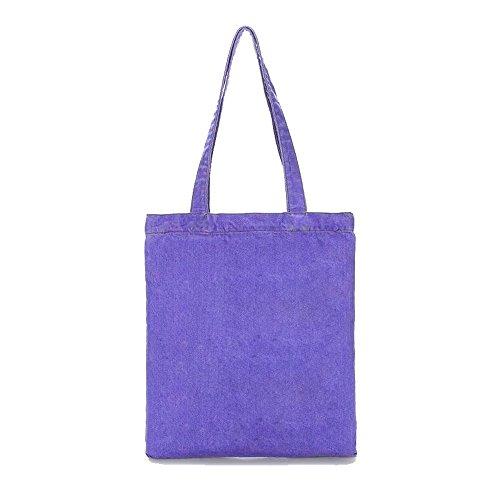 Canvas Grocery Grey Bag Purple Dark 8R84Yrxw