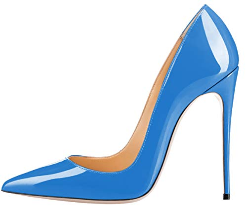 Srg120 p1dethan Celeste a De Mujer Charol Dethan Azul Con Sandalias Cuña dvEWnxqwR