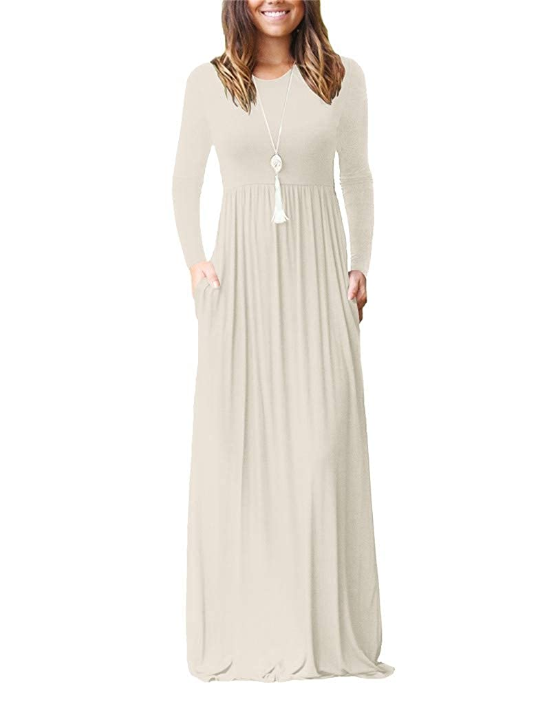 03beige Fendxxxl Women's Sleeveless Racerback Dress Casual Loose Plain Long Maxi Dresses with Pockets S2XL