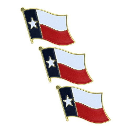 Online Stores Texas Flag Lapel Pin - 3 Pack ()