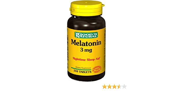 Amazon.com: Good N Natural - Melatonin 3 mg. - 240 Tablets: Health & Personal Care