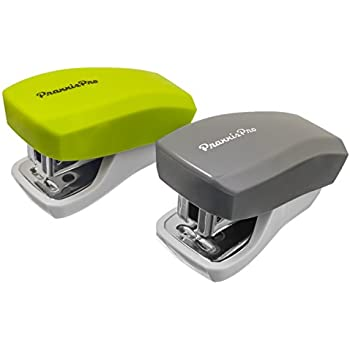 cool office supplies office cubicle praxxispro mini staplers builtin staple remover staples to 18 sheets set of 2 lime green cool grey amazoncom praxxispro office supplies aria travel essentials 14