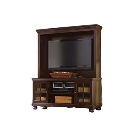 Attrayant Amazon.com: Espresso Tv Stand With Hutch, For Flat Panel LCD Or LED Tvs Up  To 50 Inch: Electronics
