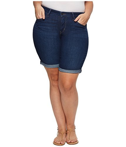 Levi's Women's Plus Size Shaping Bermuda Shorts, Lost Blues, 40 (US 20)
