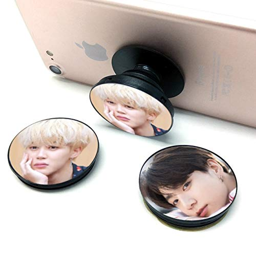 Kpop BTS Phone Grip Ring Holder, Foldable Expanding Stand Finger 360 Rotation for Cell Phone for Army, Compatible with Almost All Phones, iPhone, Samsung Galaxy & Other Smartphones (Jimin)