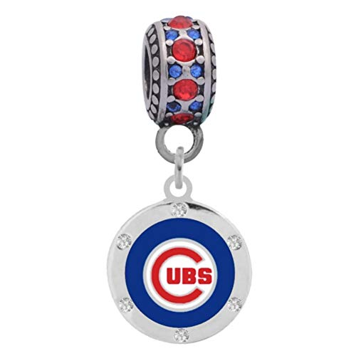 Final Touch Gifts Chicago Cubs Crystal Charm Fits Most for sale  Delivered anywhere in USA