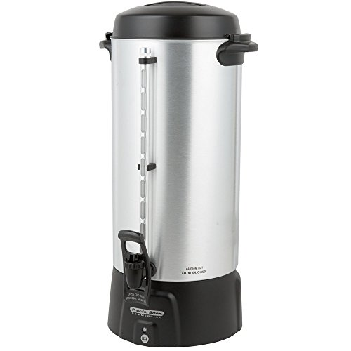 Coffee Maker Brewer Urn 100 Cup (3.9 Gallon) Coffee Urn for Schools, for Church, for Businesses, for Parties 100 Hot Coffee Cups 120 V 1090Watt