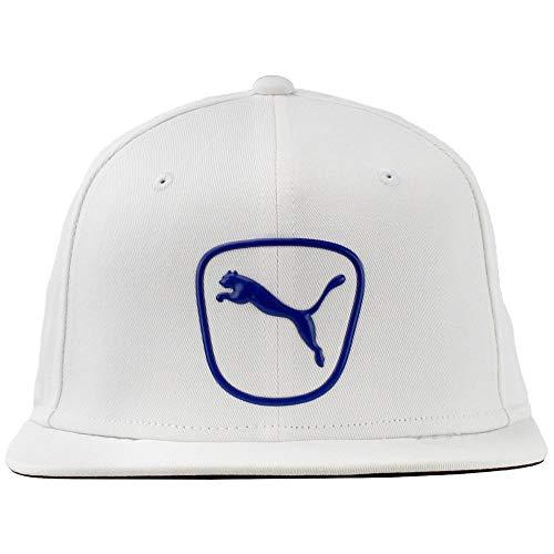 PUMA Golf- Cat Patch 2.0 Snapback Cap, White/Surf The Web ()