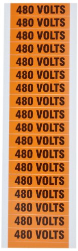 Morris Products 21374 Voltage Marker, 480V Legend (Pack of 5 Cards, with 18 Markers Per (Conduit Marker Cards)