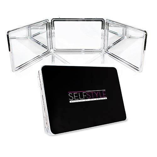 Self Style System - 3 Way Mirror with Adjustable Height Brackets. Full -