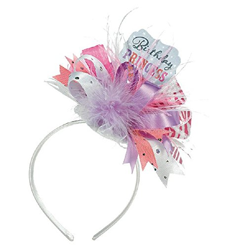 Pretty in Pink Birthday Princess Fashion Top Hat Headband Party Accessory, Fabric, 10