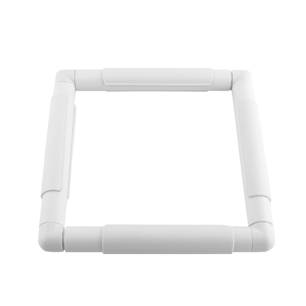 20.3 * 20.3cm Hilitand Square Rectangle Plastic Clip Frame for Embroidery Cross Stitch Quilting Needlepoint Tool