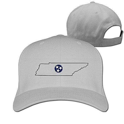 HDRAY Unisex Adult Tennessee State Outline Plain Baseball Cap Adjustable Snapback Hat - Leaf Weed Outline