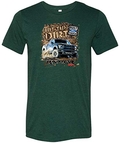 Ford F-150 Hit The Dirt Tri Blend Shirt, Emerald XL