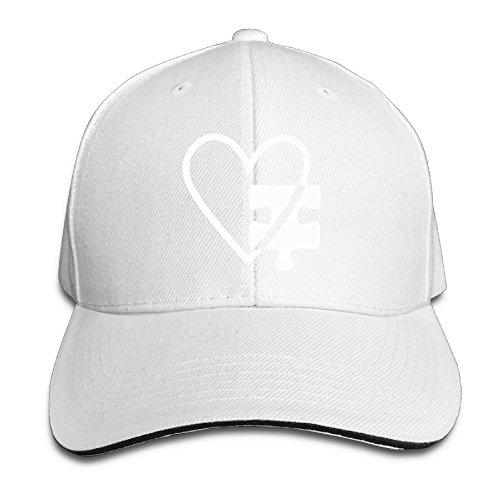 Autism Heart Stylish Adjustable Hat Sun Hat Sandwich Baseball Cap Hats for Unisex